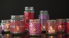 #DIYwedding ~ Glittered Glass Jars with Martha Stewart Crafts #12monthsofmartha