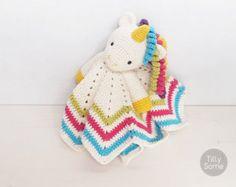 Lovely Bunny Lovey Pattern  Security Blanket  Crochet by TillySome