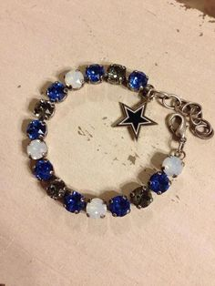 Items similar to Dallas Cowboys Swarovski team bracelet on Etsy Dallas Cowboys Baby, Cowboys 4, Dallas Cowboys Football, Cowboy Love, Cowboy Gear, Jewelry Accessories, Unique Jewelry, Bracelet Making, Swarovski