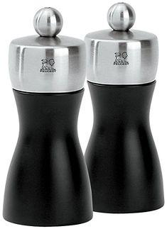 Peugeot Fidji Stainless Steel Salt And Pepper Mill Set 12cm 4 3 4 Inch Black Matte Review Salt And Pepper Mills Pepper Mill Stuffed Peppers
