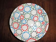 This would be great on almost any of our pottery pieces! Cups, bowls, plates -- these dots are playful and colorful!