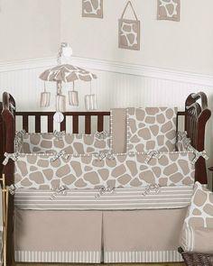 SHOP Giraffe Print Baby Bedding 9pc Crib Sets by Sweet Jojo Designs.  FREE Shipping. No Order Minimums. BabysOwnRoom.com.