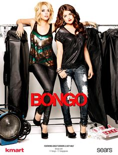 Ashley Benson and Lucy Hale of (Pretty Little Liars) Advertises BONGO!