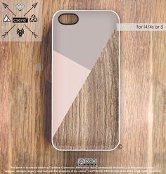 iPhone 5 Case Wood Print Geometric iPhone 5 Case by CseraCases, $19.99
