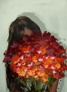 Arrangement . extra large giclee art print poster of painting. $65.00, via Etsy.