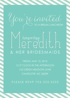 Printable Bridesmaids' Luncheon Invitation  by sweetpressStudio, $25.00