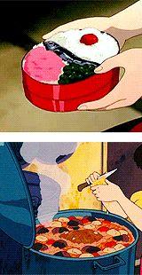 ❤Ghibli food time❤... Must... eat... bento..