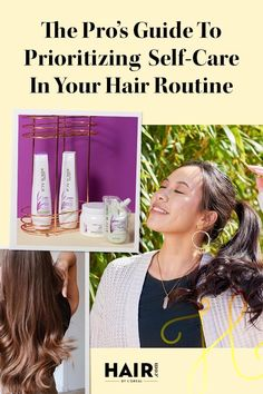 Stress less with these self-care-inspired hair tips and products. Hair Tips, Hair Hacks, Stress Less, Self Care Routine, Prioritize, Loreal, Body Care, Your Hair, Hair Care