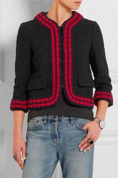 Gucci | Cropped bouclé-tweed jacket | NET-A-PORTER.COM