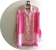 Camisa de seda - Rosa Chá - Tamanho G R$55.00