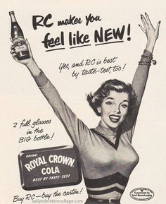 PIN UP GIRLS IN VINTAGE ADS: When Advertising Boasted of Curves | Buy RC -- buy the carton!