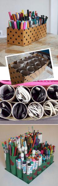 Toilet-Paper-Roll-Storage-Ideas. Des boites de rangement