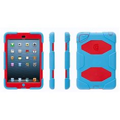 Griffin Survivor Case for Apple iPad mini, Blue/Red ((?!♥))