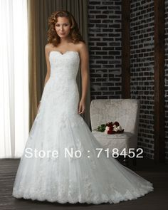 >> Click to Buy << Cheap Vintage Lace Wedding Dress A Line Sweetheart off the Shoulde Free Shipping BN17 #Affiliate