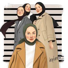 Girly Drawings, Disney Drawings, Cute Girl Pic, Cute Girls, Cute Sister, Anime Muslim, Hijab Cartoon, Islamic Girl, Street Hijab Fashion