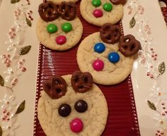 Rudolph the Reindeer Sugar Cookies - Easy Rudolph sugar cookies that you and your kids will love to make together.  Tags: Christmas Recipes | Christmas Treats | Christmas Desserts | Holiday Recipes | Holiday Treats | Holiday Desserts