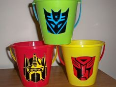 TRANSFORMERS BIRTHDAY PARTY favor pails