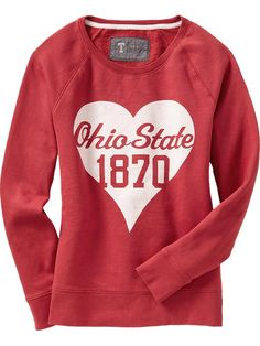 Women's College Team Fleece Pullovers Product Image