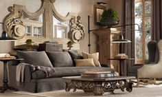 Restoration Hardware.  Look at that coffee table!!!