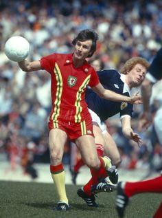 Leighton Philips Home Aertex shirt, yellow away socks v Scotland in 1979