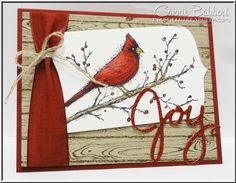 Beauty of the Season, Hardwood, Cardinal, Joy, Christmas, Stampin' Up!, #stampinup, Connie Babbert, www.inkspiredtreasures.com