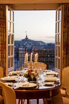 Gorgeous view from Le Bristol Paris' Panoramic Suite in Paris, France