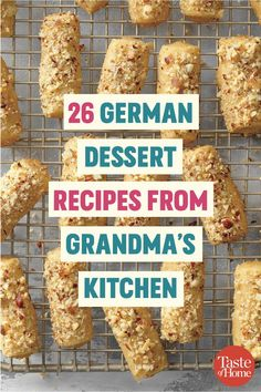 26 German Dessert Recipes from Grandma's Kitchen These German desserts taste just like Grandma used to make. From spritz cookies to streudels, you won't be able to get enough. German Cookies, German Cake, German Christmas Food, German Christmas Markets, Traditional German Desserts, Deutsche Desserts, Just Desserts, Dessert Recipes, German Baking