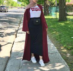 hoda – Hijab World Modern Hijab Fashion, Street Hijab Fashion, Abaya Fashion, Muslim Fashion, Modest Fashion, Fashion Outfits, Casual Hijab Outfit, Hijab Chic, Casual Hijab Styles