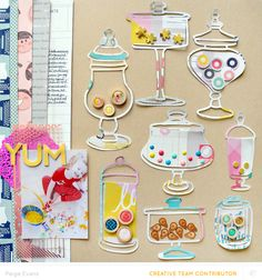 #papercrafting #scrapbook #layout - Yum by PaigeEvans at @studio_calico