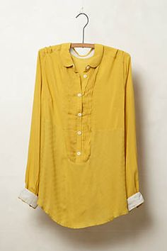 Anni Popover By Maeve - Gold- Shop Women's Clothes - Anthropologie #yellow #pullover #styling #fashion #summer #blouse #color #simple #chic