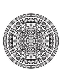 Mandala Coloring Pages, Colouring Pages, Adult Coloring Pages, Coloring Books, Coloring Stuff, Mandala Art Lesson, Mandala Drawing, Mandala Tattoo, Mandala Pattern
