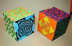 Tekenen en zo: Op art kubus