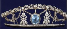 A closer look at the Aquamarine tiara, 19th Century, sold at Harrods annual January sale