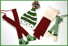 The holiday season at last has come, the shopping and planning has now begun, but soon we're so hectic with all of our plans, our fistfuls of … Loom Knitting, Knitting Patterns Free, Free Knitting, Free Pattern, Knitting Machine, Knitted Christmas Decorations, Christmas Stockings, Christmas Crafts, Shelf Elf