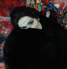 Gustav Klimt, Lady with A Muff (1916)