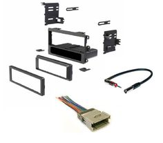 Car Stereo Dash Kit, Wire Harness, and Antenna Adapter for