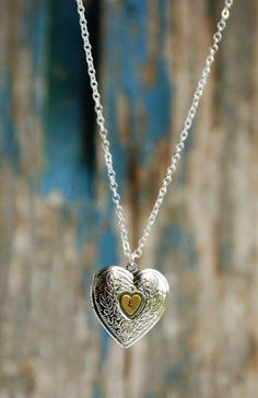 Silver HEART LOCKET Pendant Initial Locket by redtruckdesigns