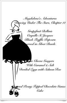 Magdalena's Menu Cards~ Dancing Under The Stars