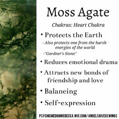 Moss Agate crystal meaning