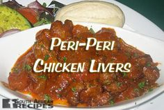 Chicken livers peri peri - so good. Might be my fave South African dish Peri Peri Hühnchen, Peri Peri Chicken, South African Dishes, South African Recipes, Real Food Recipes, Meat Recipes, Cooking Recipes, Recipies, Chicken Liver Recipes