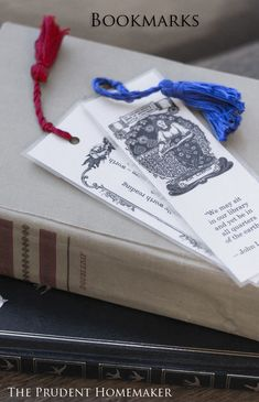 Bookmarks.. Free printable bookmarks,and a tutorial for laminating and making the tassels!!
