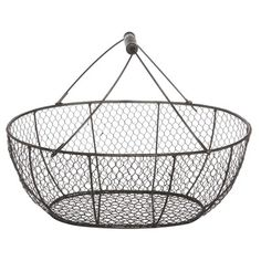 A&B Home Group, Inc French Chic Garden Wire Basket