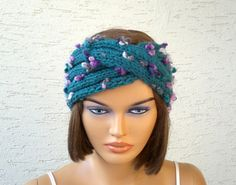 Knitted turban headband ear warmer knit by KnitterPrincess on Etsy, $17.00