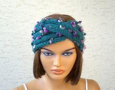 Knitted turban headband ear warmer knit by KnitterPrincess on Etsy, $17.00