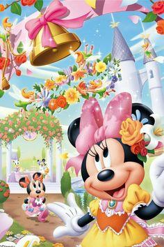 Wall Paper Pink Disney Minnie Mouse 64 Ideas For 2019 Retro Disney, Cute Disney, Disney Cartoon Characters, Disney Cartoons, Mickey Mouse Wallpaper, Disney Wallpaper, Disney Images, Disney Pictures, Image Mickey