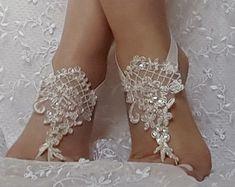 free ship Beach wedding barefoot sandals bangle by GlovesByJana