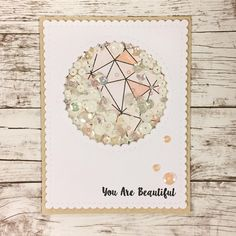Y O U A R E B E A U T I F U L White peach beige so clean og beautiful shakercard Last card for this convention - it has been an awesome weekend #mitkammer #cardmaking #copiccoloring #krumspringstamps #krumspringtriangles #sequins #shakercard #scrapamania2017 #cardmagic #cardmakinghobby #happyday #scallops #happytime