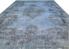 "9 '9"" X 6'2"" Turkish Vintage ICE BLUE Pale Blue Blueish Overdyed handmade CARPET rug on Etsy, $500.00"