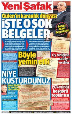 Fethullah Gülen'in sırlarla dolu karanlık dünyası Yeni Şafak, Fethullah Gülen'le ilgili gün yüzüne çıkmamış belgelere ulaştı. 1969 yılında Hür ve Kabul Edilmiş Masonlar Locası tarafından üstün hizmetleri karşılığı taltif madalyası ile ödüllendirilen Gülen, 1975'te ise Türkiye Büyük Mason Mahfili'ne gizli yemin töreniyle girmiş.  http://www.yenisafak.com.tr/politika/fethullah-gulenin-sirlarla-dolu-karanlik-dunyasi-2110893