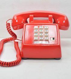 Lipstick Red Vintage Desk Telephone